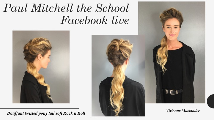 Facebook Live for Paul Mitchell Schools hosted by Vivienne
